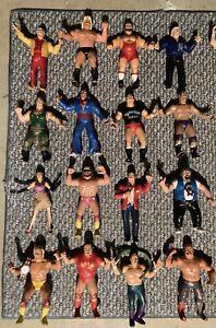WWE WWF LJN Wrestling Superstars Lot Of 47 Figures With Accessories & BONUS