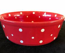 Temptations Tara Red Polka Dot Large Round Casserole Dish Baker 2.5 Quart