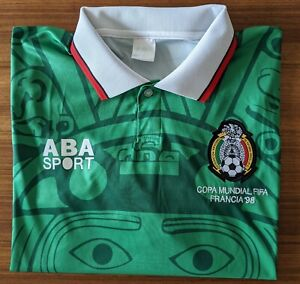 Vintage 1998 ABA Sports Mexico Home Football Shirt/Top - France World Cup L/XL