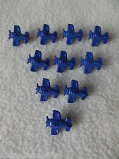10 x DARK BLUE AEROPLANE SHAPED BUTTONS ~ size: approx 15mm ~ BABIES/CRAFT