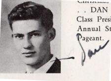 DAN ROWAN SIGNED High School Yearbook SENIOR Year ROWAN AND MARTIN'S LAUGH-IN