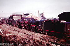 Victorian Railways Steam R707 & more Stored Outside Bendigo Roundhouse May 1966
