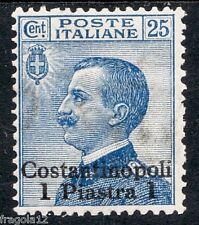 COSTANTINOPOLI 1909 - VITTORIO EMANUELE III - P. 1 SU C. 25 - MH