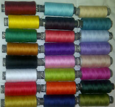 24 SEWING ALL PURPOSE 100% Pure COTTON THREAD 24 Colors BUY 2 & GET 3rd Set Free