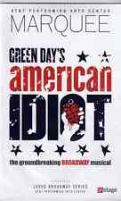 American Idiot Playbill  AT & T Performing Arts  Center (Winspear) Dallas Texas