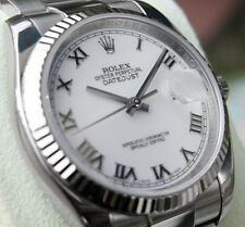 Rolex DATEJUST 116234 Mens Steel & 18K White Gold Oyster 36MM White Roman Dial