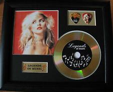 Blondie/Deborah Harry Preprinted Autograph, Gold Disc & Plectrum Presentation