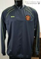 Manchester United MUFC Soccer Silver Gray Long Sleeve Pullover Shirt Jacket **XL