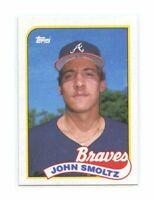 1989 Topps #382 John Smoltz Atlanta Braves Rookie Card