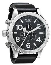 New Authentic Nixon A124000 A124-000 Watch Mens 51-30 Chrono Leather Black