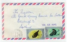 ST LUCIA: 1976 Airmail cover to Scotland (C25147)