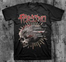 ASESINO 'Weaponized Skull' T shirt (BRUJERIA, TRANSMETAL, CARCASS )