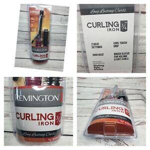 Remington 3/4 Barrel Cool Touch Grip Curling Iron 375 High Heat 2 Heat Settings