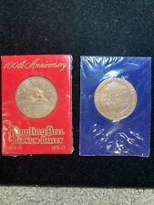 2 PC RINGLING BROS. BARNUM & BAILEY CIRCUS 100th ANNIVERSARY  26mm TOKEN 1970-71
