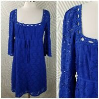 Laundry By Shelli Segal Lace Dress Size Large Romantic bell sleeve party boho