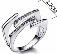 New Hot Style Unique Women Ring Luxury High Quality Aaa Clear Cz Stones sz 8