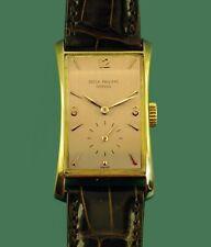 "PATEK PHILIPPE ""HourGlass"" Ref.1593 18K Gold  Men's Vintage Watch Original Band"