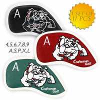 Golf Iron Wedge Cover 11pcs Leatherette Headcovers for Taylormade Callaway US
