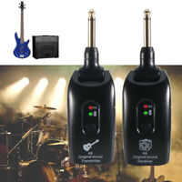 USB Rechargeable 2.4GHz Wireless System Guitar Bass Transmitter & Receiver 270°