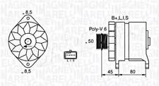Lichtmaschine Generator für CHEVROLET Tacuma DAEWOO Nubira 1.6-1.8L 1997-
