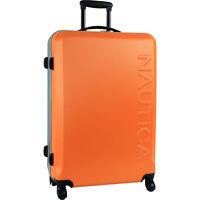"""Nautica Ahoy Hardside Spinner Orange Silver 28"""" Wheeled Suitcase"""