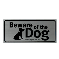 Modern Stainless Steel Beware Of The Dog Sign, Letterbox, Gate, Fence Stick On