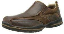 SKECHERS Mens Size 8 Vorlez Conven Oxford Slip On Slides Loafers Dark Brown NEW