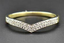 Band Curved Ring 10K Yellow Gold Fn 0.50 Ct Diamond Round Ladies Prong Wedding