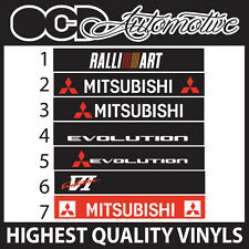 MITSUBISHI EVO EVOLUTION LANCER RALLIART TOMMI SUNSTRIP WINDOW BAND SUN STRIP