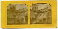 Hold to light Vintage Stereoview Photo Burgos Monastery ?  Spain