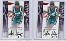 2000 Skybox WNBA ANDREA STINSON Autograph Charlotte Sting