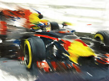 Max Verstappen TAG Heuer Red Bull F1 Formula 1 Race Car CANVAS Art Print Poster