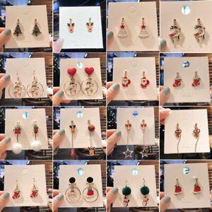 Christmas Enamel Santa Claus Earrings Dangle Stud Drop Xmas Party Women Hot Gift