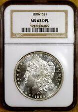 1886 NGC MS63 DMPL Morgan Dollar