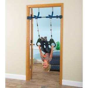 Doorway Kids Indoor Jungle Gym Door Exercise Unit Toy Swing Rope Rings