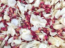 Natural Biodegradable Wedding Confetti Burgundy Ivory Dried Vintage Flower Petal