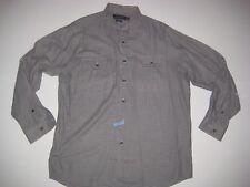 RALPH LAUREN Mens long sleeve BENFORD Button Shirt LARGE L Black tan Check Nice