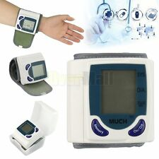 Digital LCD Wrist Blood Pressure Monitor & Heart Beat Rate Pulse Meter Measure