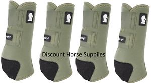 Classic Equine OLIVE GREEN LEGACY2 Front Rear Value Pack M Horse SMB Sport Boots