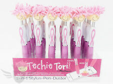 New Breast Cancer Awareness Techie Tori 3-in-1 Stylus, Pen, Duster - Pink!