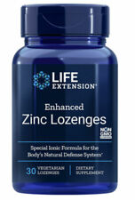 Life Extension Enhanced Zinc 18.75mg Lozenges 30 Ct Non-GMO Peppermint Flavor
