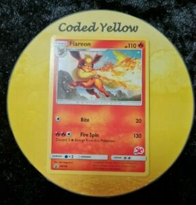 SM186 Flareon (Charizard Stamp) | Pokémon SM TCG | Black Star PROMO Card L/P