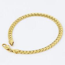 14k gold filled stainless steel women chain charm bracelet new jewelry 7.76in