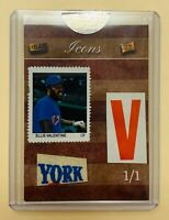 2019 The Bar Pieces Of The Past ELLIS VALENTINE 1/1 Pennant And Stamp NY METS