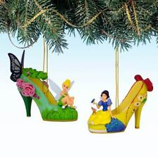 Tinker Bell & Snow White Set 24 Disney Once Upon Slipper Shoe Ornament Set of 2