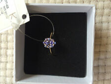 New IVY GEMS 9ct yellow gold tanzanite cluster ring Size K US 5.5 RRP£290