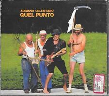 "ADRIANO CELENTANO - RARO CD FUORI CATALOGO "" QUEL PUNTO """