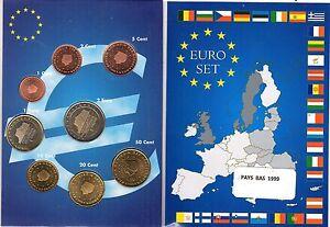 EURO PAYS-BAS 1999  SERIE COMPLETE 1C A  2 E NEUVE