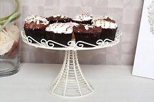 Crema De Alambre Pastel Cupcake Stand Vintage Boda Fiesta 1 nivel de almacenamiento Pantalla Placa