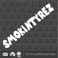 SMOKINTYREZ Decal Sticker 317mmW Bike Car UTE Van Scooter Lowered illest MOTO